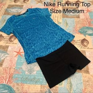 Nike Dri-Fit Blue Running Shirt Size Medium